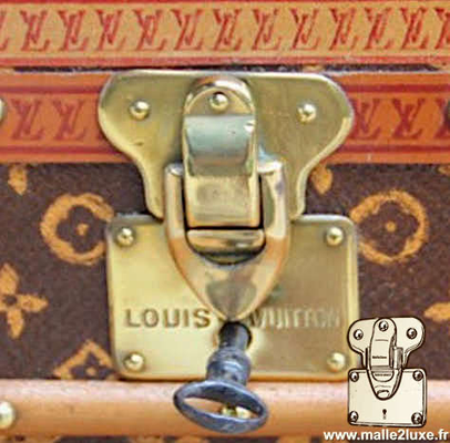 louis vuitton flower trunk lock