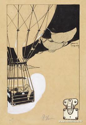 """""""la Montgolfière"""" par Pierre-Emile Legrain, Vers 1910"""