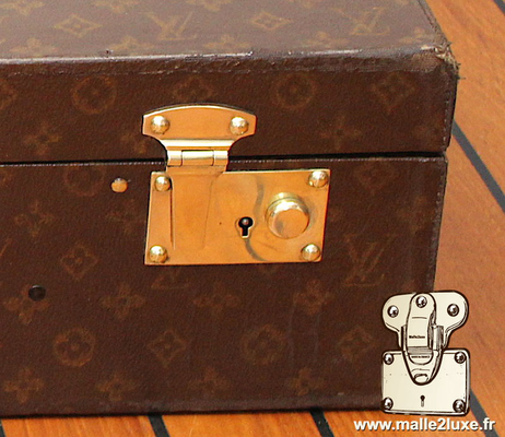 Louis Vuitton steel suitcase push lock rare