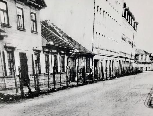 Originalaufnahme zu Zeiten des Rigaer Ghettos.