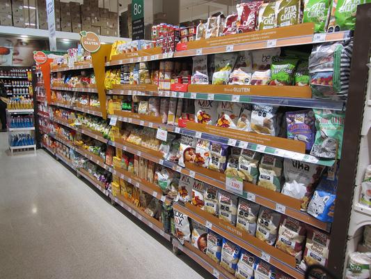Glutenfreie Produkte im Jumbo