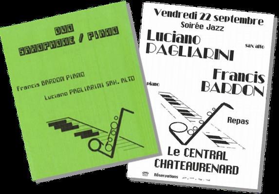 Duo Saxophone/Piano: Luciano Pagliarini und Francis Bardon, 1988