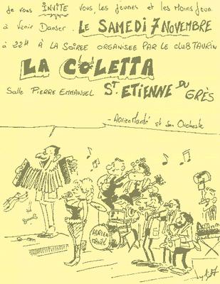 Einladung zur Tanzveranstaltung mit Adrien Manté und seinem Orchester.  (1987) (Flugblatt)