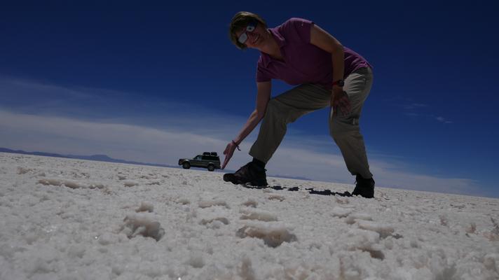 Fotoshooting in der Salzwüste