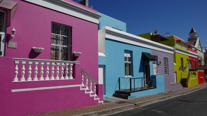 Bo-Kaap Häuser in Kapstadt
