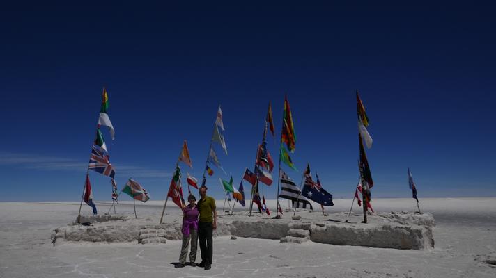 In der Salar de Uyuni, der grössten Salzwüste der Welt