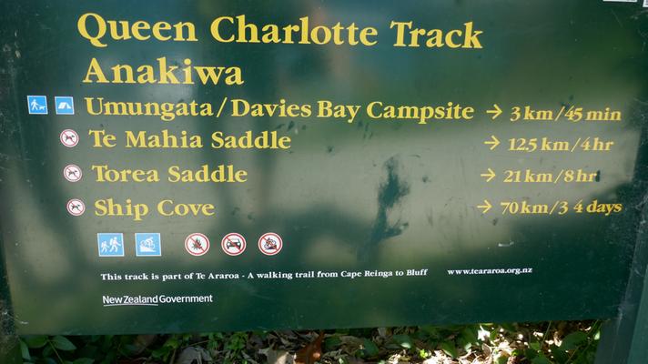 Der Queen Charlotte Track: Eine 71km lange Wanderung