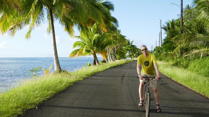 Fahrrad fahren ist gemütlich auf Raiatea