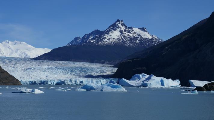 Unterwegs mit dem Schiff zum Glacier Grey