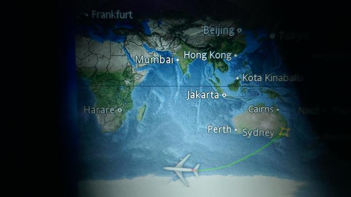 Auf dem Weg von Sydney nach Johannesburg