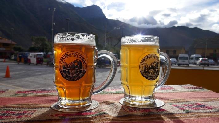 Das beste Bier auf der ganzen Reise: Cerveceria dell Valle Sagrado. Natürlich mit Brauereibesichtigung im heiligen Tal