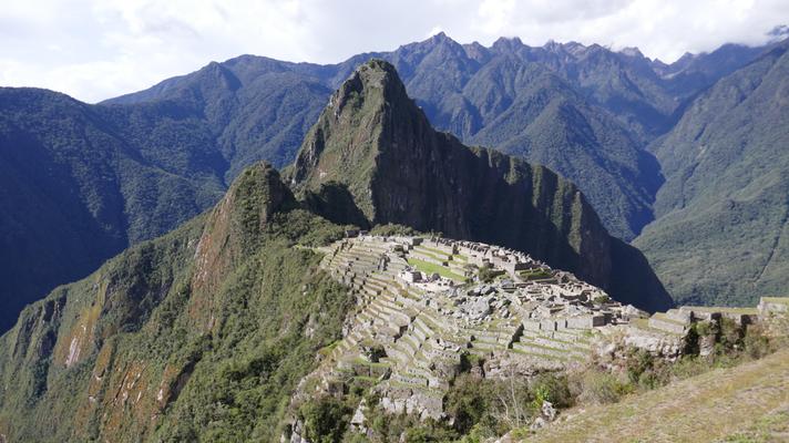 Blick auf den sagenhaften Machu Picchu