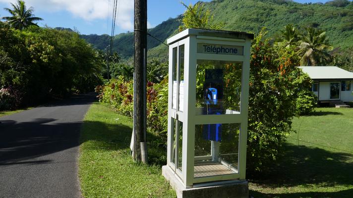 Hier gibts noch Telefonkabinen!