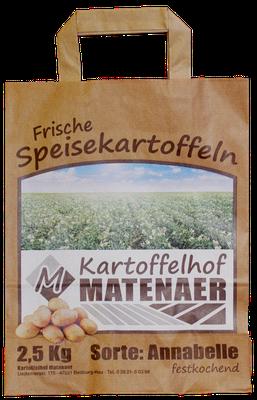 Papier Tüte für Kartoffeln vom Kartoffelhof Matenaer.