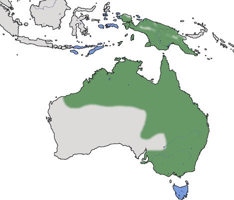 Karte zur Verbreitung des Pazifikmittelreihers