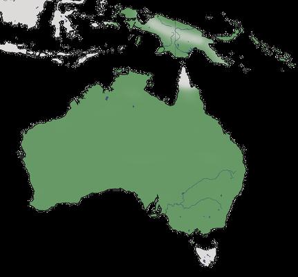 Karte zur Verbreitung des Gartenfächerschwanzes