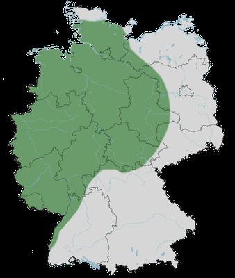 Karte zur Verbreitung der Nilgans in Deutschland