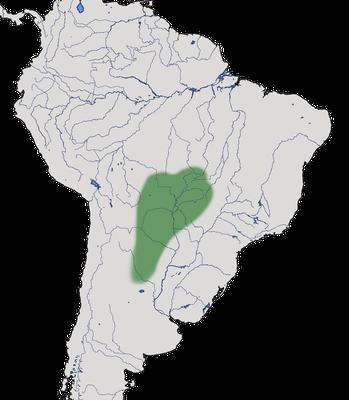 Karte zur Verbreitung des Chacoguans