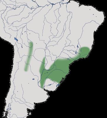 Karte zur Verbreitung des Bronzeguans