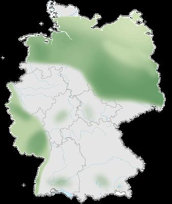 Verbreitung des Schwarzkehlchens (Saxicola rubicola) in Deutschland