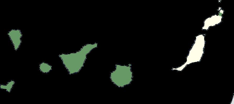 Karte zur Verbreitung des Kanarenzilpzalp (Phylloscopus canariensis)