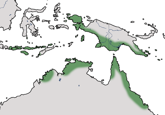 Karte zur Verbreitung des Reinwardthuhns