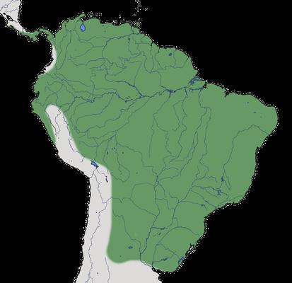 Karte zur Verbreitung des Haubenkleinyranns