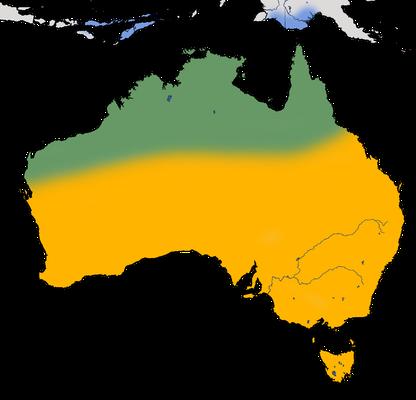 Karte zur Verbreitung des Blasskuckucks