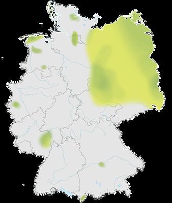 Karte zur Verbreitung des Steinschmätzers in Deutschland