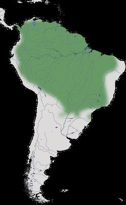 Karte zur Verbreitung des Kappenreihers