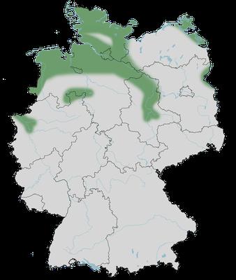 Karte zur Verbreitung der Brandgans in Deutschland