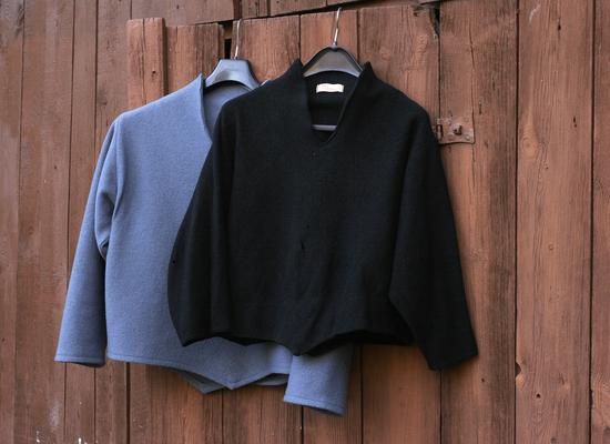 Kopierter hellblauer Pullover mit Original © GriseldaK 2018