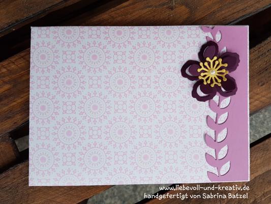Karte und Umschlag zum Abschied alles Gute, Stampin'Up, Botanical Blooms
