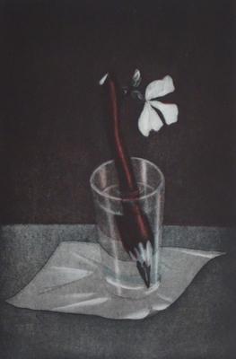 Bleistiftblüten  // Radierung Aquatinta 29.5x20