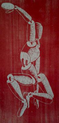 Marionette // Holzschnitt 190x85