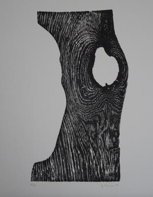 Brett vor dem Kopf  // Holzschnitt 24.5x14