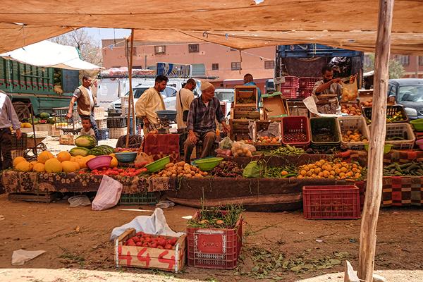 Marktbesuch in Marokko