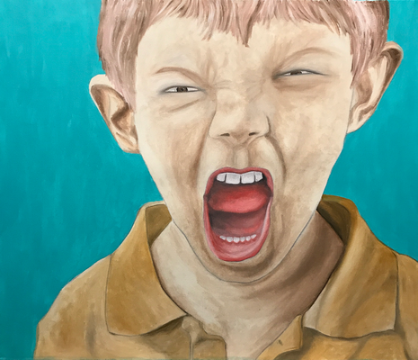 HOLLER OUT  Oilpainting on canvas, ca. 60 x 70 cm