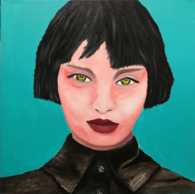 SERIE PORTRAIT 2017 #7  Oilpainting on canvas, ca. 40 x 40 cm