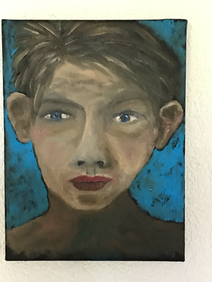 FACE  Oilpainting on canvas, ca. 20 x 30 cm