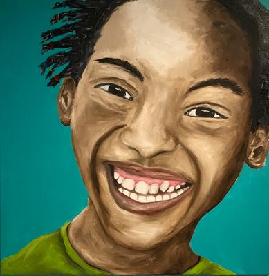 SERIE PORTRAIT 2017 #1  Oilpainting on canvas, ca. 40 x 40 cm