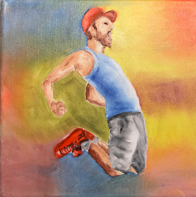 DANCING  Oilpainting on canvas, ca. 20 x 20 cm