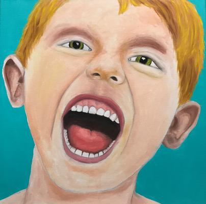 SERIE PORTRAIT 2017 #8  Oilpainting on canvas, ca. 40 x 40 cm