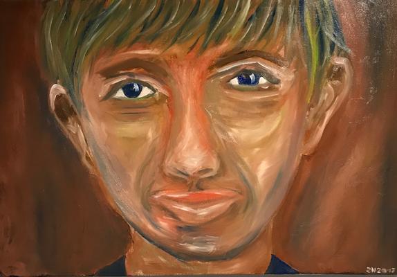 FACE  Oilpainting on canvas, ca. 60 x 40 cm