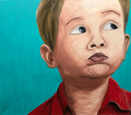 LOOKING UP  Oilpainting on canvas, ca. 60 x 70 cm
