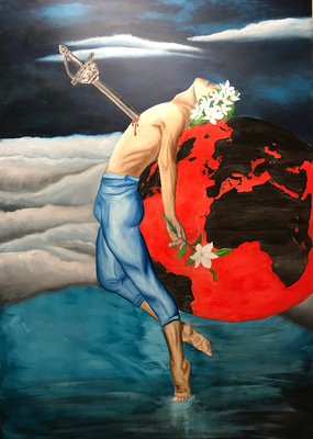 OUR LAST DAY  Oilpainting on canvas, ca. 100 x 140 cm