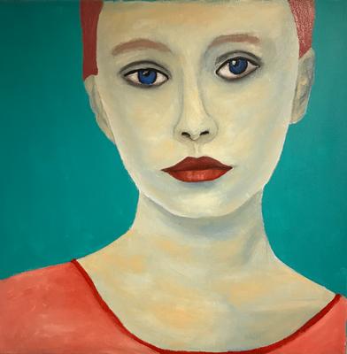 SERIE PORTRAIT 2017 #4  Oilpainting on canvas, ca. 40 x 40 cm