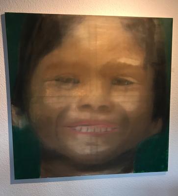 LITTLE GIRL  Oilpainting on canvas, ca. 80 x 80 cm