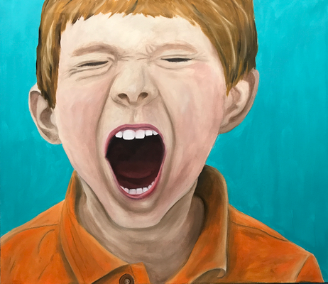 HOLLER OUT 2  Oilpainting on canvas, ca. 60 x 70 cm