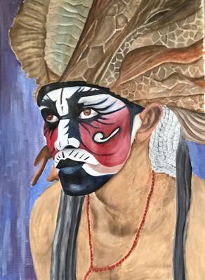 INDIO #1  oil painting ca. 50 x 70 cm